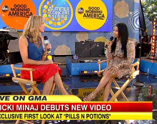 Nicki Minaj on Good Morning America on June 6, 2014