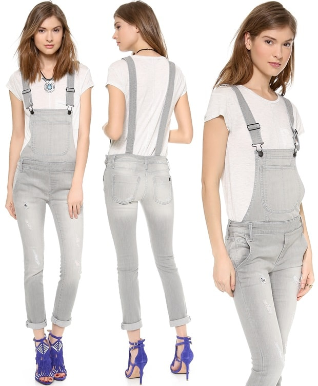 These denim overalls are a rustic classic with a grunge twist