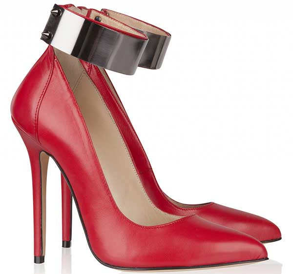 Olcay Gulsen Metal-Ankle Pumps in Red