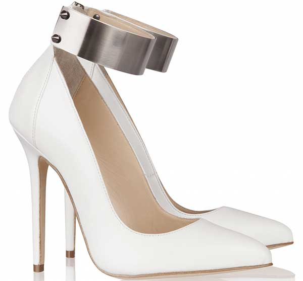 Olcay Gulsen Metal-Ankle Pumps in White