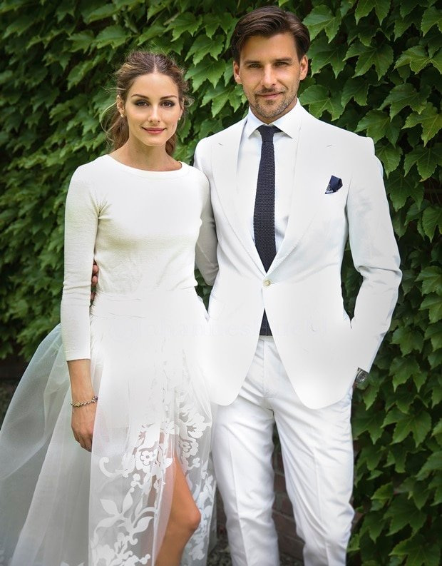 Olivia Palermo and Johannes Huebl got married in outfits by Carolina Herrera and Marc Anthony Hamburg