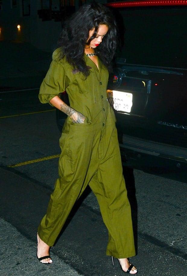 Rihanna at Il Ristorante di Giorgio Baldi in Santa Monica on June 19, 2014