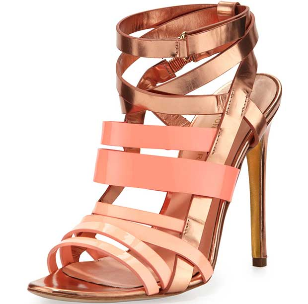 Rupert-Sanderson-Strappy-Metallic-Leather-Sandals