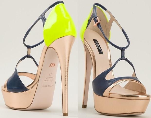 """Ruthie Davis """"Lydia"""" Sandals in Multicolors"""