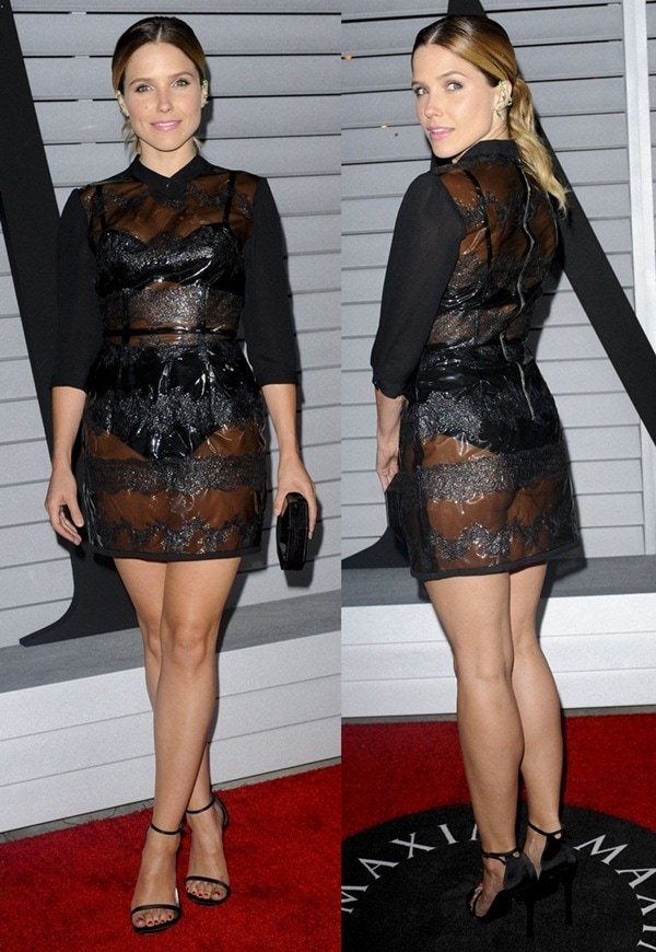 Sophia Bush shows off her hot legs at the Maxim Hot 100 Celebration