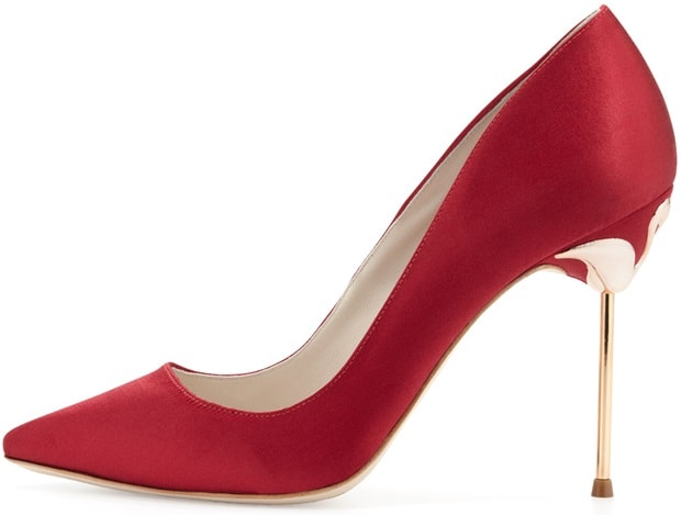 Sophia Webster Coco 5 Satin Point-Toe Pumps