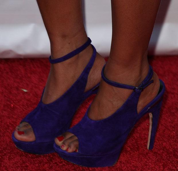 Tatyana Ali wearing Dolce Vita heels