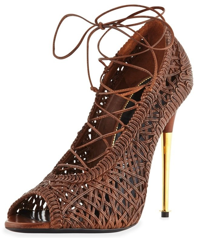 Tom Ford Nappa Leather Lace-Up Pumps