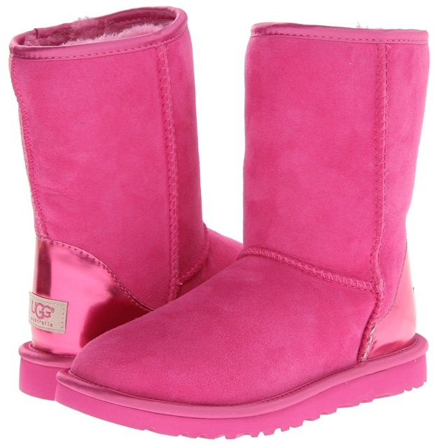 UGG Classic Short Metallic Patent Princess Pink