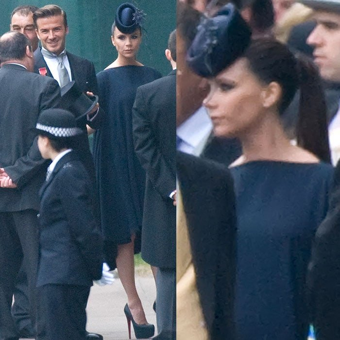 Victoria Beckham is not known for her smile, but she looked downright miserable when she attended the Royal Wedding