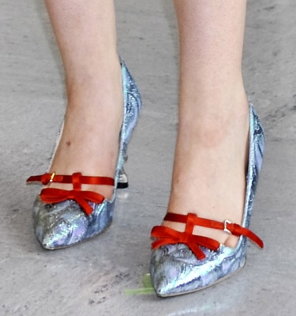 Elle Fanning's playful and pointy pumps