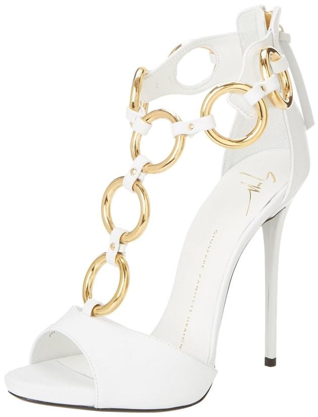 Giuseppe Zanotti Gold-Ring T-Strap Sandals