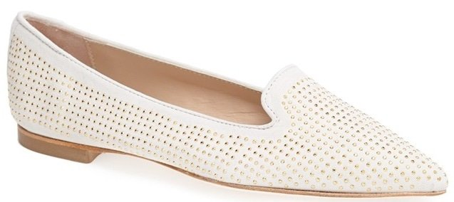 Hego's Studded Suede Flats