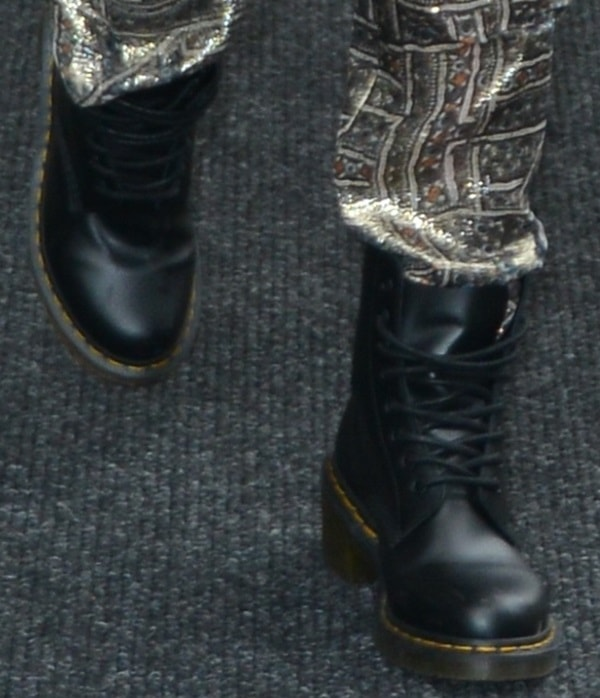 Jessica Alba in chunky Dr. Martens boots