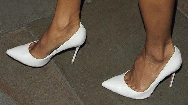 Nicole Scherzinger leaving C London restaurant