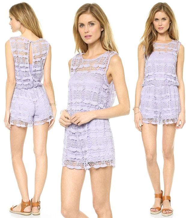 re named Sleeveless Crochet Lace Romper