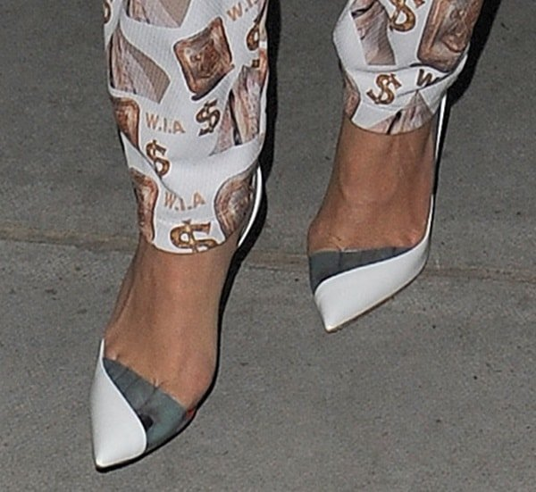 "Rita Ora wearing rocking""Miss Rigidaine"" pumps"