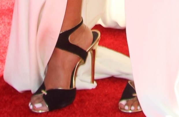 Ashanti wearing a stunning pair of Tom Ford sandals