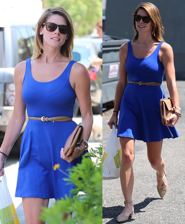 Ashley Greene picking up her lunch at Lemonade in West Hollywood, California, on July 8, 2014