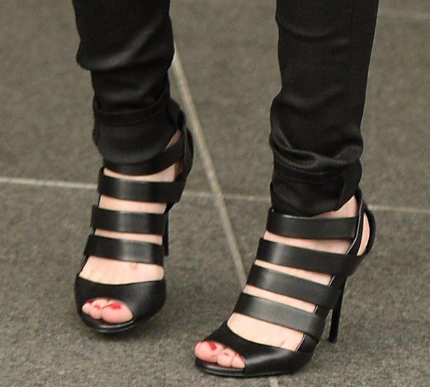 Cher Lloyd wearing Jimmy Choo sandal booties