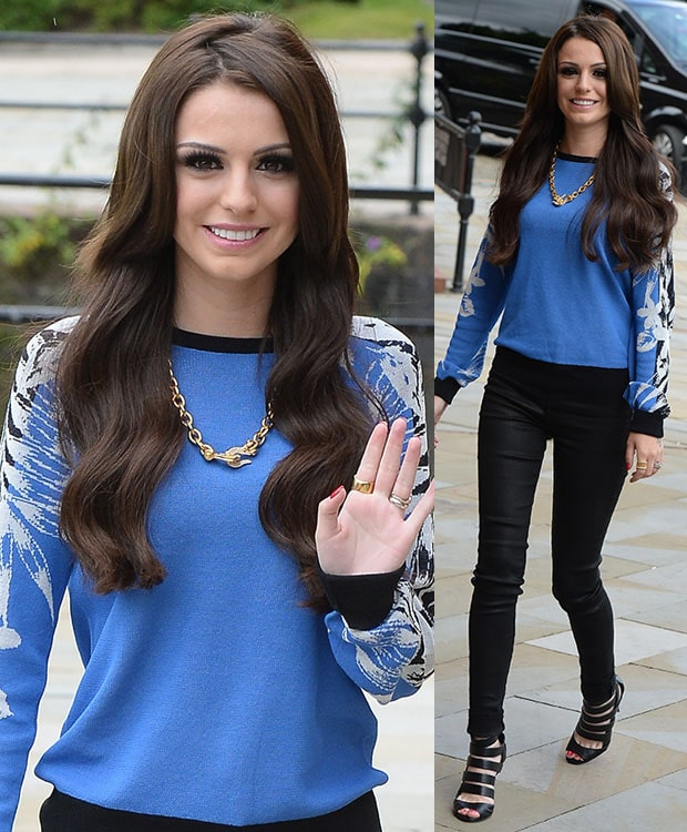 CCher Lloyd arriving at the Key 103 radio station in Manchester, United Kingdom, on July 16, 2014