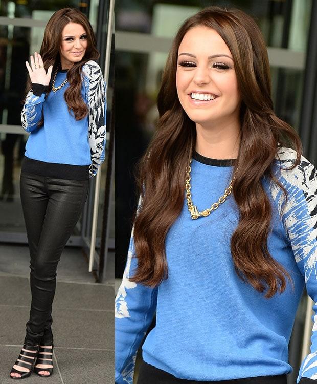 Cher Lloyd leaving BBC Breakfast studios in Manchester, United Kingdom, on July 16, 2014