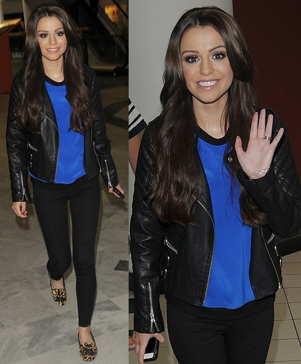 Cher Lloyd's covetable long brunette tresses were styled in loose waves