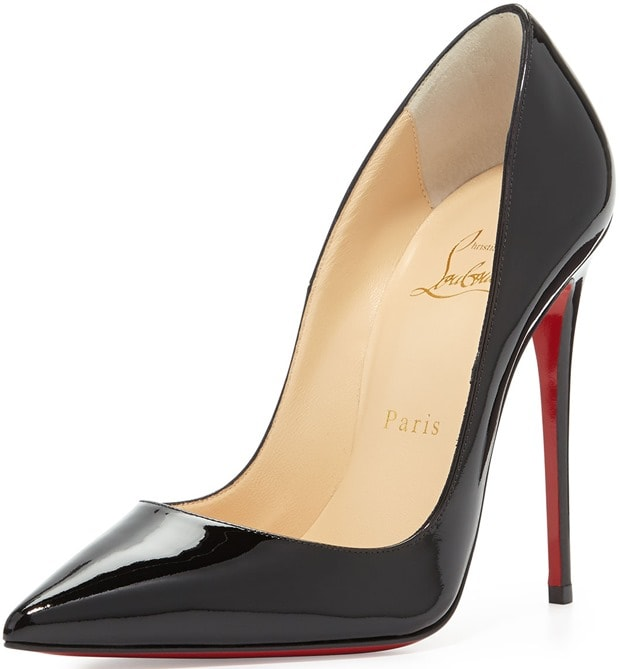 Christian Louboutin So Kate Patent Red Sole Pump Black