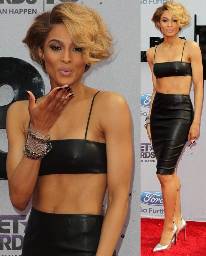 Ciara arriving at the 2013 BET Awards held at the Nokia Theatre in Los Angeles on June 30, 2013