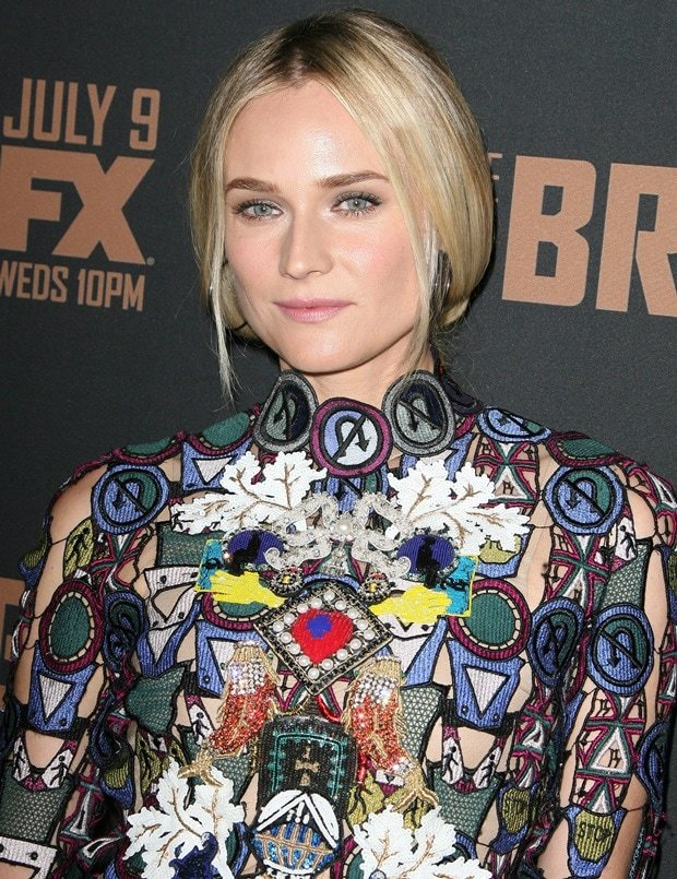Diane Kruger at FX's 'The Bridge' premiere held at the Pacific Design Center in Los Angeles on July 8, 2014