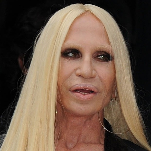 Donatella Versace at Paris Fashion Week Haute Couture Fall-Winter 2014/2015 (Atelier Versace Fashion Show) in Paris, France, on July 6, 2014