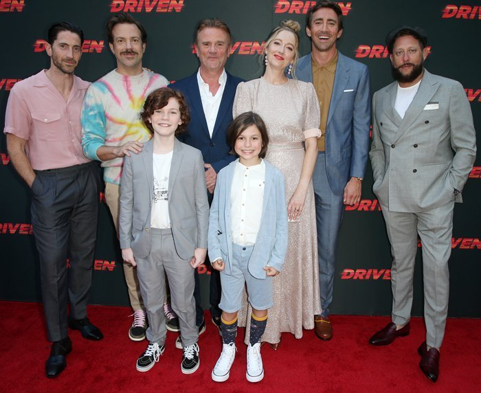 Iddo Goldberg, Jason Sudeikis, Nick Hamm, Judy Greer, Lee Pace, Brad Feinstein, Tyler Crumley, and Asher Miles Fallica at the Los Angeles premiere of their new movie Driven