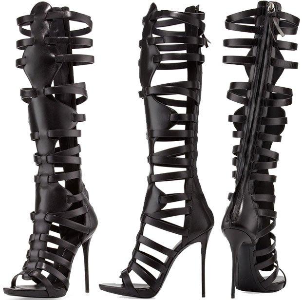 Giuseppe Zanotti High-Heel Caged Knee Sandals