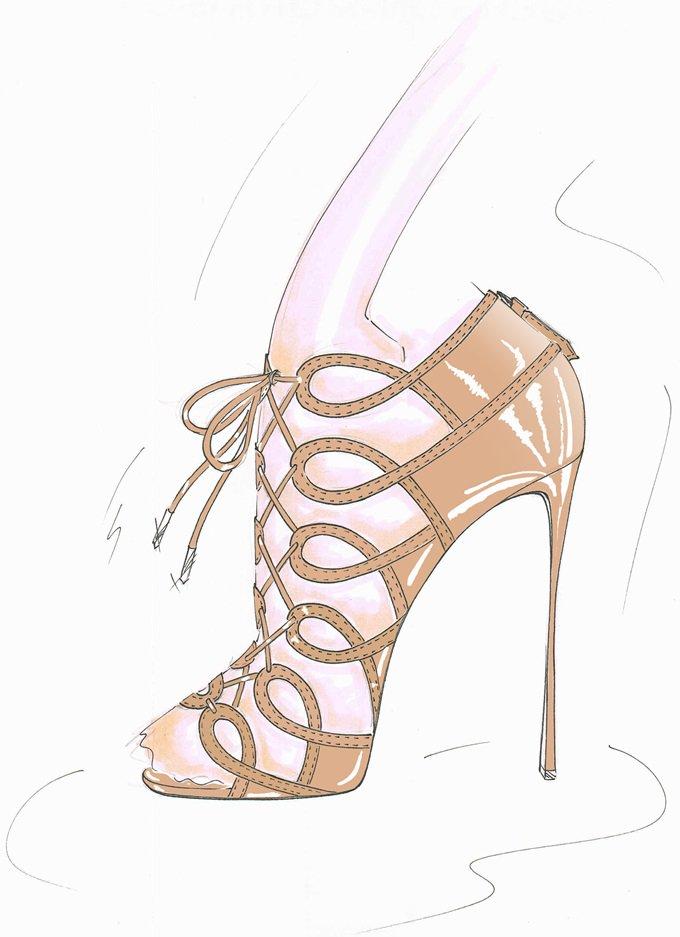 Aquazzura x Olivia Palermo gladiator heels