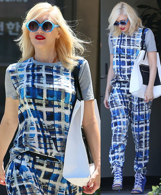 Gwen Stefani leaving an acupuncture clinic in Los Angeles on July 9, 2014