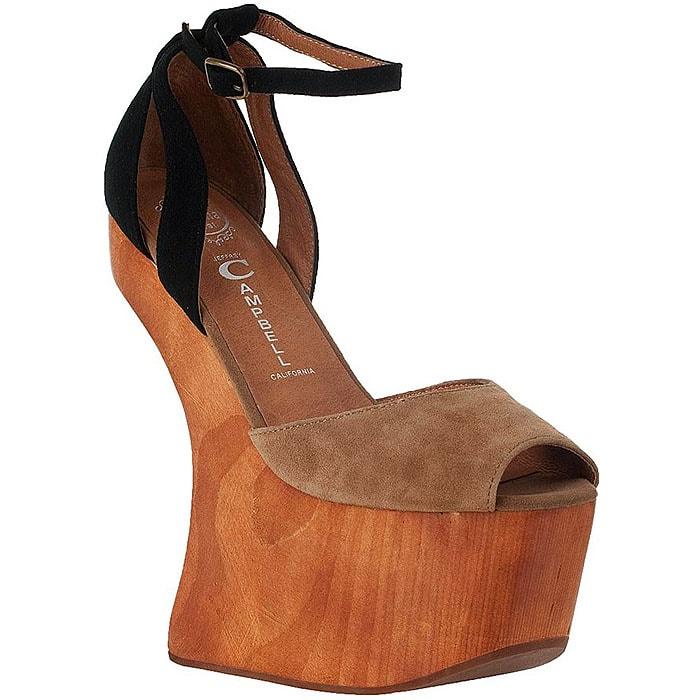 Jeffrey Campbell Str8up Heel-Less Platform Sandals