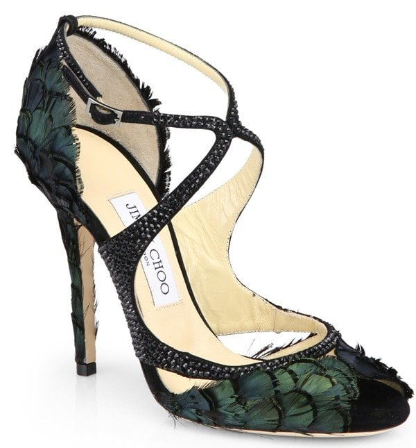 Jimmy Choo Kamelia Feather Sandals