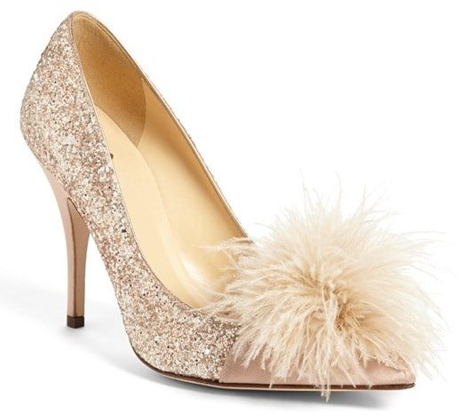 Kate Spade New York 'Lilo' Pump in Rose Gold Glitter