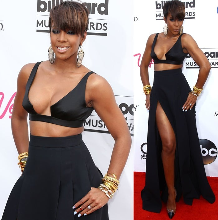 Kelly Rowland at the 2014 Billboard Awards Red Carpet at the MGM Grand Resort Hotel and Casino in Las Vegas on May 18, 2014