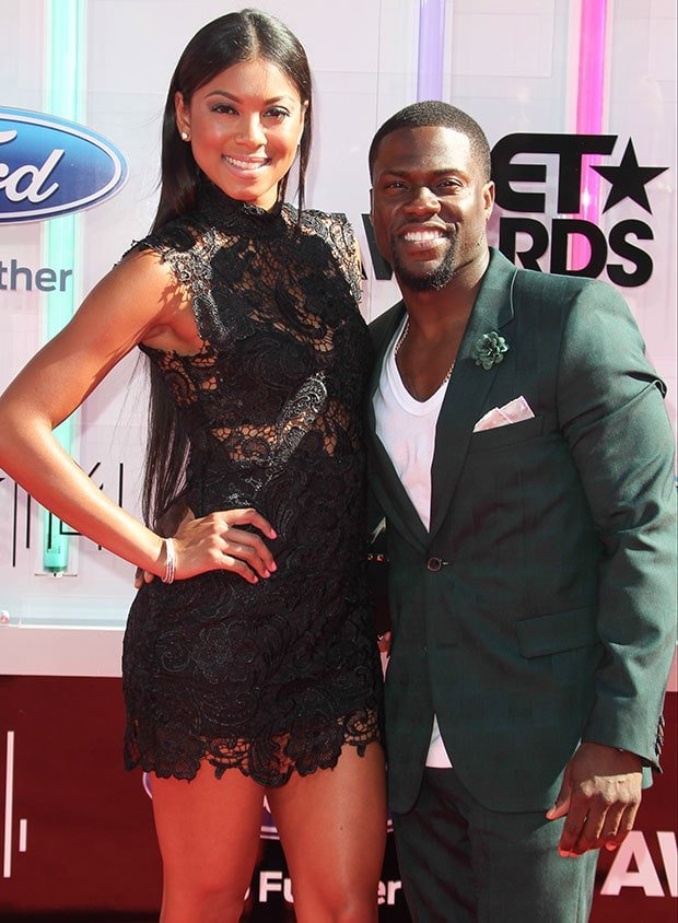 Eniko Parrish and Kevin Hart at the 2014 BET Awards