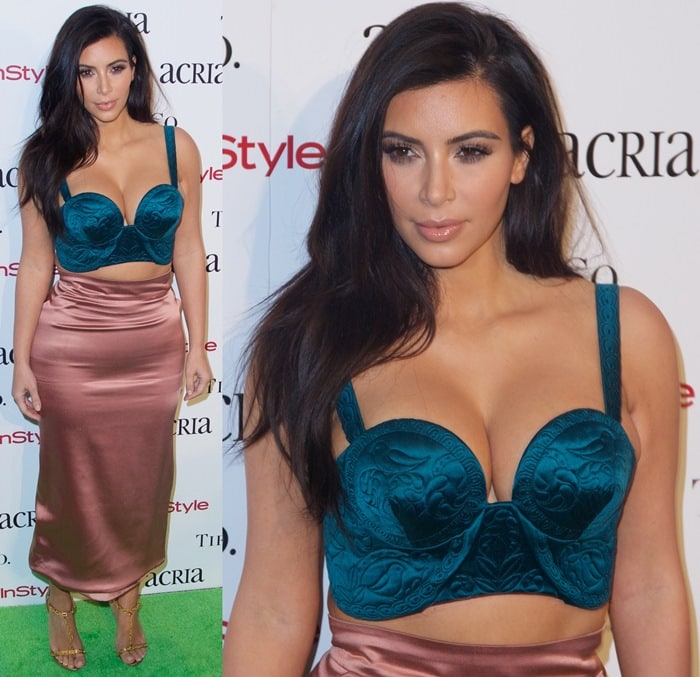 Kim Kardashian at the 2014 ACRIA Holiday Dinner at Skylight Modern in New York City on December 10, 2014