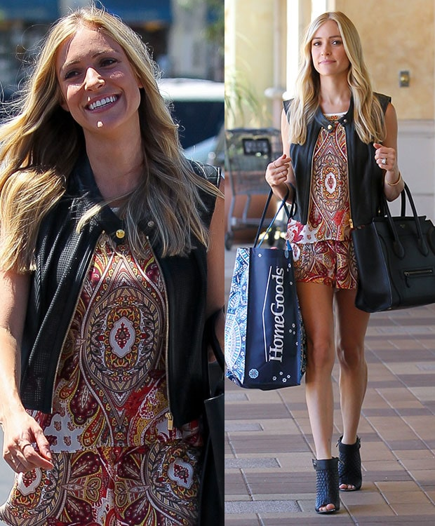 Kristin Cavallari wearing a leather vest from As by Df