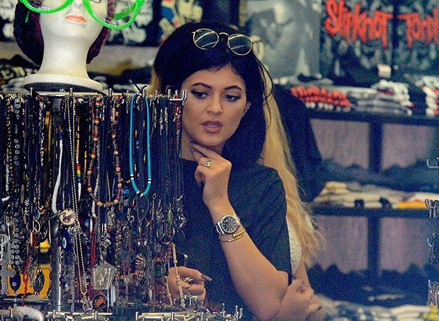 Kylie Jenner shopping on Melrose Avenue in Los Angeles on July 10, 2014