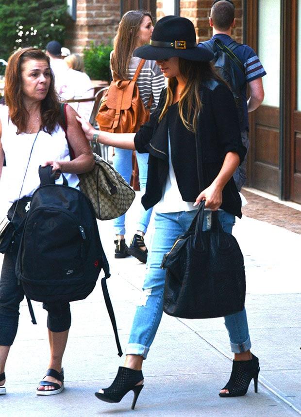 Lea Michele leaving her hotel in Manhattan
