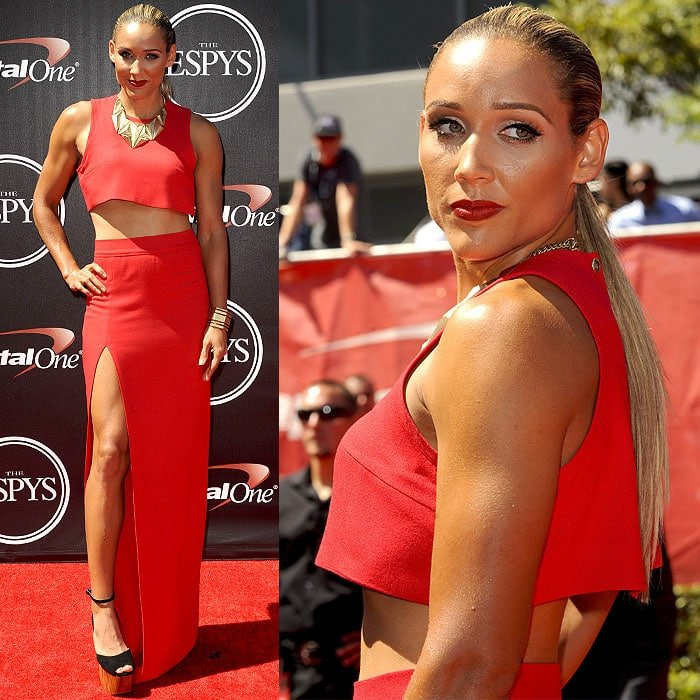 Lolo Jones attended the 2014 ESPY Awards held at Nokia Theatre L.A. Live in Los Angeles on July 16, 2014