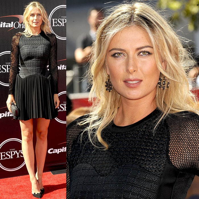 Maria Sharapova attended the 2014 ESPY Awards held at Nokia Theatre L.A. Live in Los Angeles on July 16, 2014