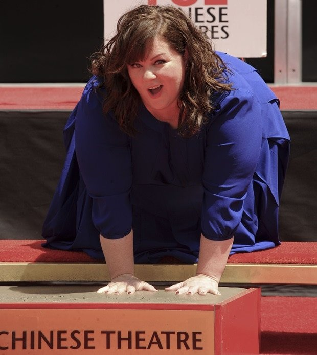 Melissa McCarthy's hand and footprint ceremony at the TCL Chinese Theatre