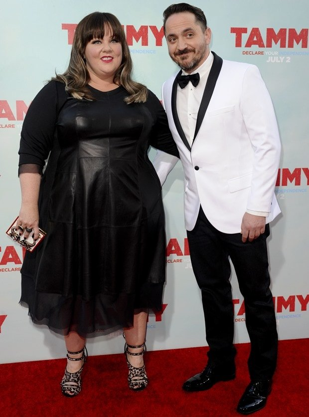 Melissa McCarthy and Ben Falcone at the premiere of Tammy held at the TCL Chinese Theatre in Hollywood on July 1, 2014