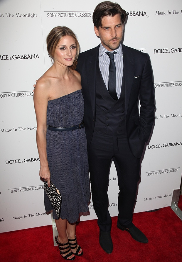 Olivia Palermo and Johannes Huebl at the premiere of 'Magic in the Moonlight' at The Paris Theatre in New York City on July 17, 2014