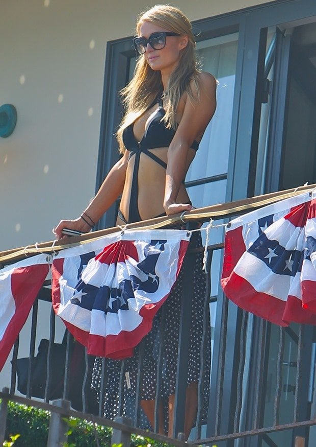 Paris Hilton's 4th of July beach party in Malibu on July 4, 2014